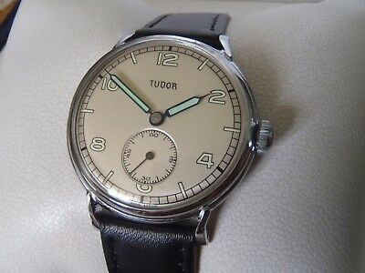 Military Style Vintage Watch Tudor Rolex Swiss Made Serviced!fully Working!!!