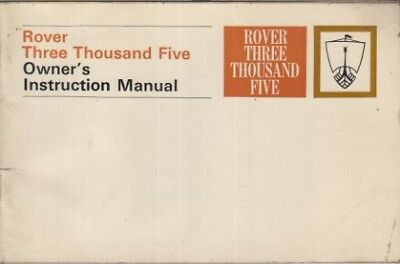 Rover P6 3500 Auto Saloon Original 1969 Owners Instruction Manual