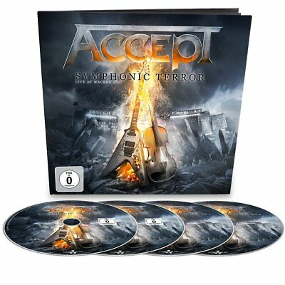 Accept Symphonic Terror Live At Wacken 2017 Earbook w/ blu ray dvd and 2cd