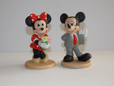 DISNEY - Mickey and Minnie Mouse Figurines - Made in Srilanka