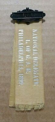 National Delegate,Ladies of The G.A.R.,Philadelphia,Pa.,Ribbon,1899