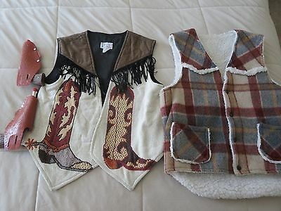 Couples Costume Country/western/cowboy/cowgirl Authentic Vests & Toy Guns