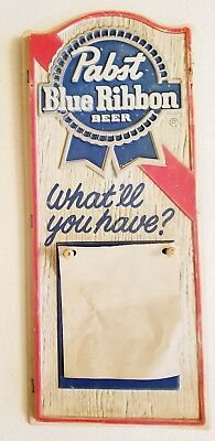 VINTAGE Pabst Blue Ribbon Beer Wall Calendar Bar Sign Advertising Promo Plastic