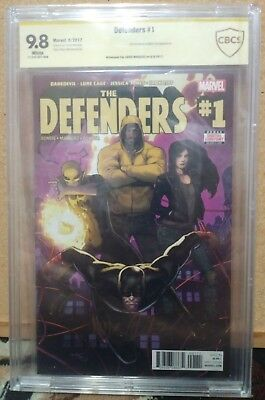 9.8 SS CBCS (not CGC) DEFENDERS #1 Signed Yellow Label Marquez NETFLIX Iron Fist