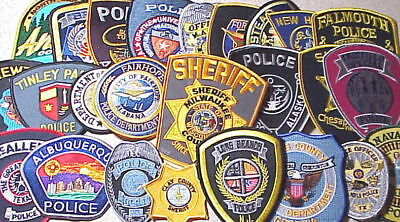 Lot Of 25 Different Police Patches  New/mint Condition  Lot #9  Free Shipping!!
