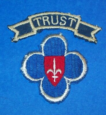 ORIGINAL POST WW2 ETO MADE 88th INFANTRY DIVISION TRIESTE FORCES PATCH + TAB