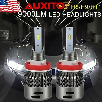 AUXITO 9000lm CSP Super White H11 H8 H9 LED Headlight Low Beam C7 Kit Waterproof