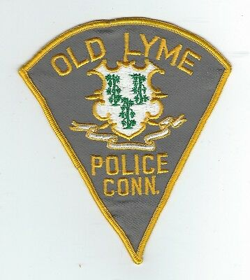 VINTAGE OLD LYME, CONNECTICUT POLICE (CHEESE CLOTH BACK) patch