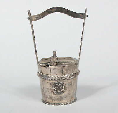 Antique Chinese Export Silver Figural Salt Bucket