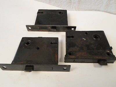 Antique lot 3 Door Passage Mortise Locks Salvage 2 Working 1 for parts - no keys