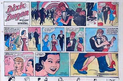 Dixie Dugan by McEvoy & Striebel - lot of 13 half-page Sunday comics, early 1959