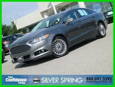 2014 Ford Fusion Titanium 2014 Titanium Used Turbo 2L I4 16V Automatic FWD Sedan Moonroof Premium