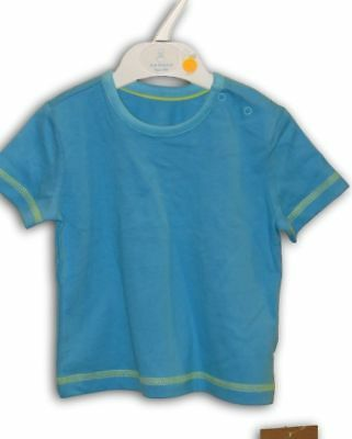 New JUST CLASSIC T-Shirt ~ Boys 000 ~ Cotton Shirt w Contrast Green Stitching