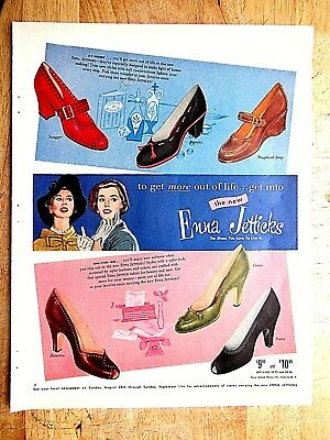 1956 print ad - Enna Jettick fashion comfort lady shoes  print ad