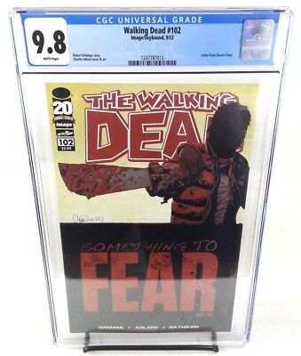The Walking Dead #102 CGC 9.8 Something To Fear Part 6