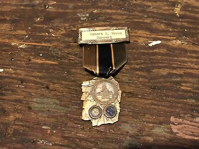 Antique New Hampshire American Legion Medal Old Man Of The Mountain