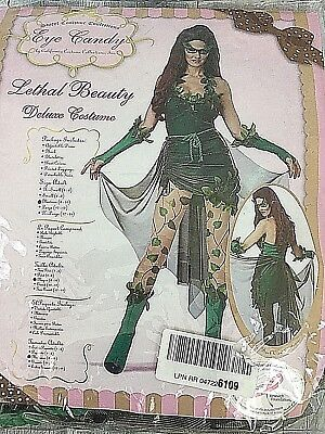NEW California Costumes Women's Eye Candy Lethal Beauty Green size Medium 8-10