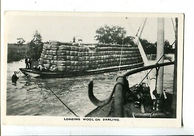 Paddle Steamer Loading Wool on Darling River