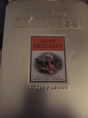 Walt Disney Treasures:DAVY CROCKETT-The Complete Series (DVD, 2-Disc Set) in Tin