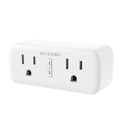 BlitzWolf BW-SHP3 Dual Outlet WIFI Smart Socket US Plug 110-240V 10A Work with