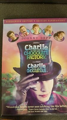Charlie and the Chocolate Factory (DVD, 2005), movie is in good condition