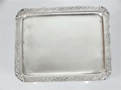 French Silver Tray with Garland Decorated Border by Bardies-Foure & Cie