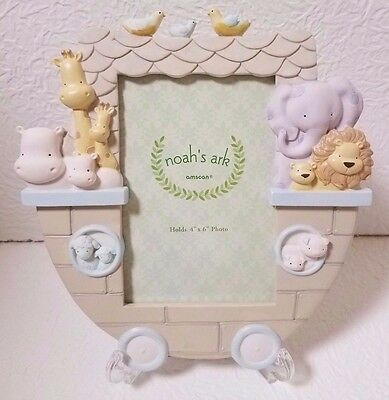Gorgeous Noah's Ark 4X6 Boy/girl Tabletop Picture Frame New