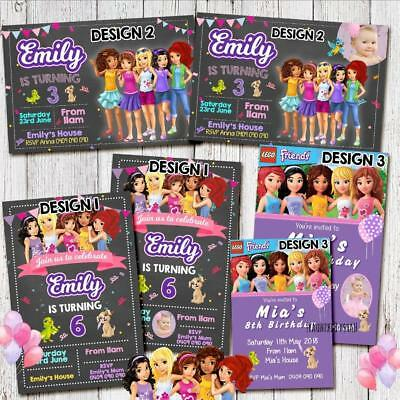 YOU PRINT LEGO FRIENDS Theme Birthday Invites Invitations Party