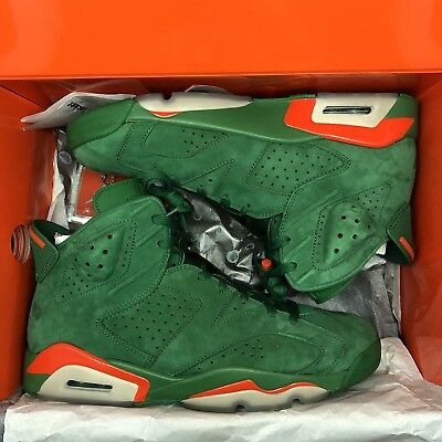 NIKE AIR JORDAN 6 Gatorade Pine Green Orange Retro AJ5986-335 Shoes ... 606d261a9
