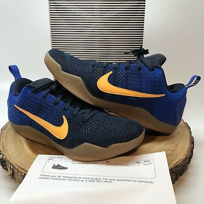 best service dbf36 10af4 Nike Zoom KOBE XI 11 ELITE LOW MAMBACURIAL FCB BARCELONA NAVY BLUE RED GOLD  9.5
