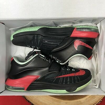 new concept bdc00 3c83b Nike KD VII 7 Bad Apple Black Red Mint Green 653996-063 Sz 9 Lebron