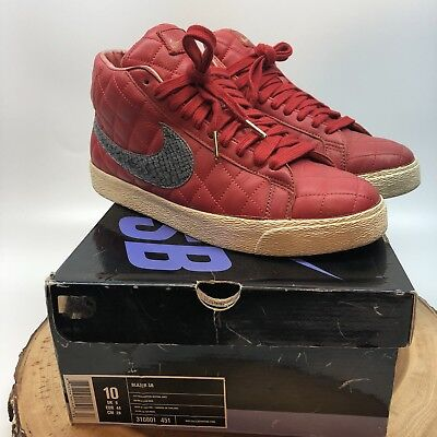 huge discount 882cd 3cc1c Nike Blazer SB Supreme Size 10 Red 313962-601 WTD Paris Black Gucc Chnel