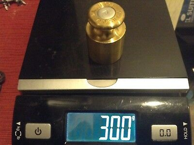 Ohaus 300G Calibration Weight  Brass With Aluminum Cap
