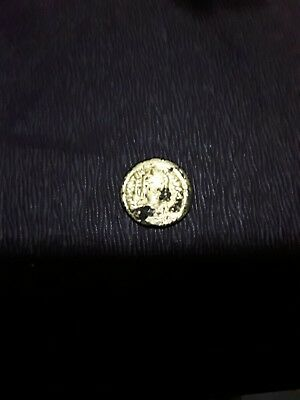 gold plated roman coin
