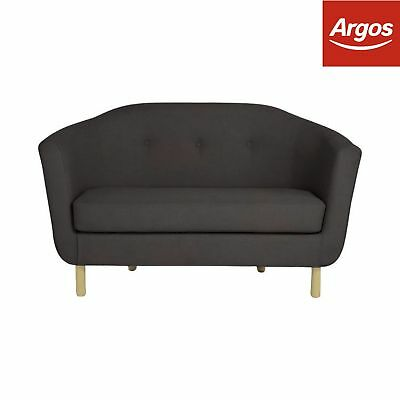 Argos Home Elin 2 Seater Fabric Sofa - Charcoal