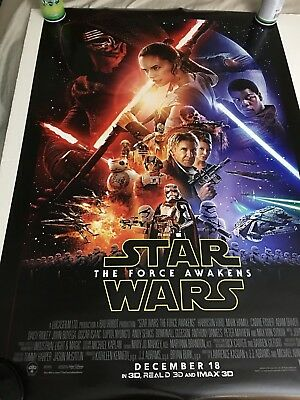 Star Wars The Force Awakens Final Theatrical Double Sided DS 27x40 US Poster