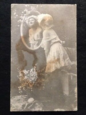 1900s ERA VINTAGE/ANTIQUE ~NUDE WOMAN IN EARLY LINGERIE~ ORIGINAL PICTURE!