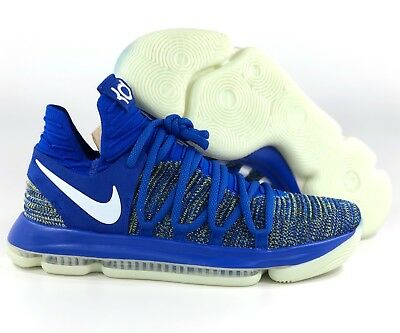 brand new 914ae d98a5 NIKE ZOOM KD 10 Warriors Royal Blue White Yellow Glow In ...