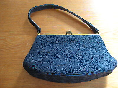 Vintage Corde ladies Black handbag, Made in Australia (GC)