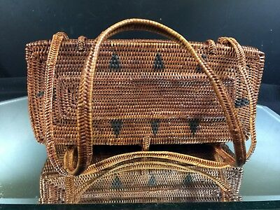 Southeast Asian Basket--Exceptional Workmanship---Vintage--7-Day Auction!