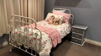 genuine antique king single cast iron bed