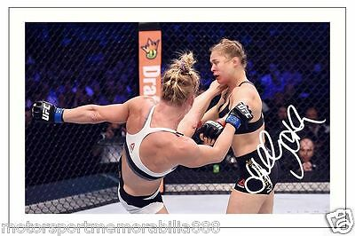 HOLLY HOLM UFC MMA SIGNED 6x4 PHOTO PRINT AUTOGRAPH