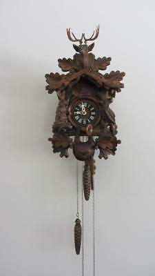 Antique Cuckoo Clock - Made in Germany - Carved Timber - Good working condition