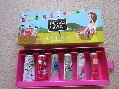 L'occitane Boxed Gift Set 6 X 10Ml Hand Cream   - Brand New -