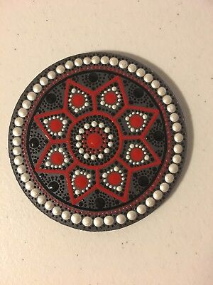 Original Acrylic painting, small Dot Mandala, Gift Idea, Home Decor, Coaster