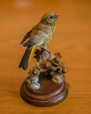 Country Artists Green Finch with Acorns 01989