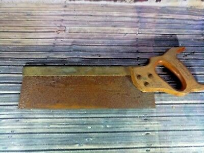 Vintage Old Brass Backed Tennon Dovetail Saw Carpentry Carpenters Tool