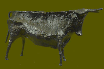 Very Interesting Old Cubist Bronze Bull - Picasso - Abstract Bronze Sculpture Nr