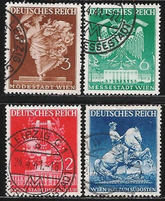 Germany Third Reich 1941 Used - Vienna Spring Fair - Mi 768-771, SG 756-759
