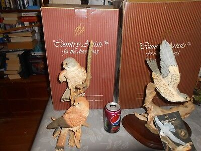 Country Artists  rare Large Size pair kestrels  boxed 14 x 9 inch approx 02776